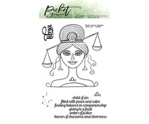 Picket Fence Studios Libra Girl 4x6 Inch Clear Stamps (HG-103)