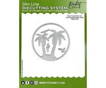 Picket Fence Studios Palm Trees Slim Line 4x4 Inch Die Cutting System Insert (SDCS-103)