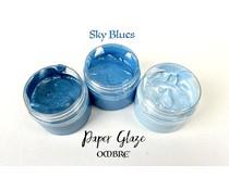 Picket Fence Studios Paper Glaze Ombre Sky Blues (PG-300)