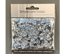 Simple and Basic Gunmetal Sequin Mix (SBS102)