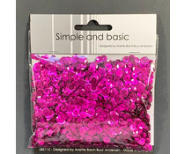 Simple and Basic Hot Pink Sequin Mix (SBS112)