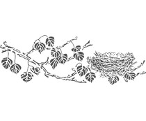 The Crafter's Workshop Blessed Nest 16½x6 Inch Stencils (TCW2402)