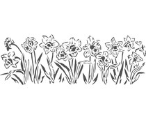 The Crafter's Workshop Daffodils 16½x6 Inch Stencils (TCW2199)