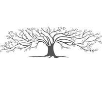 The Crafter's Workshop Family Tree 16½x6 Inch Stencils (TCW2408)