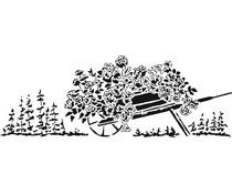 The Crafter's Workshop Flowery Wheelbarrow 16½x6 Inch Stencils (TCW2401)