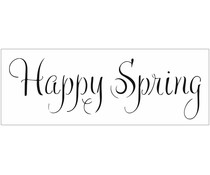 The Crafter's Workshop Happy Spring 16½x6 Inch Stencils (TCW2409)