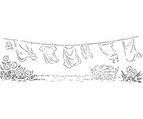 The Crafter's Workshop Laundry Day 16½x6 Inch Stencils (TCW2407)