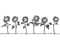 The Crafter's Workshop Sunflower Row 16½x6 Inch Stencils (TCW2405)