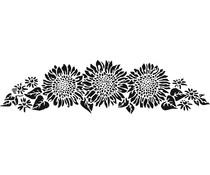 The Crafter's Workshop Sunflower Spray 16½x6 Inch Stencils (TCW2198)