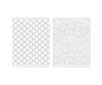 We R Memory Keepers Swirls and Scallops Revolution Embossing Folder (2pcs) (661199)