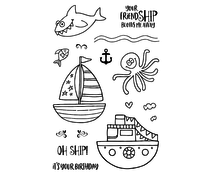 Jane's Doodles Oh Ship! Clear Stamps (JD046)
