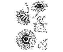 Jane's Doodles Sunflowers Clear Stamps (JD029)