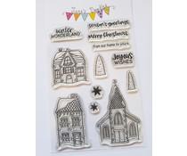 Jane's Doodles Winter Village Clear Stamps (JD066)