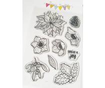 Jane's Doodles Winter Florals Clear Stamps (JD083)