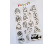 Jane's Doodles Winter Icons Clear Stamps (JD067)