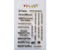 Jane's Doodles Winter Words Clear Stamps (JD064)