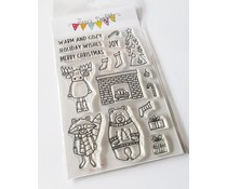 Jane's Doodles Warm and Cozy Clear Stamps (JD052)
