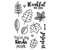 Jane's Doodles Thankful Clear Stamps (JD014)