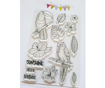 Jane's Doodles Tropical Birds Clear Stamps (JD078)