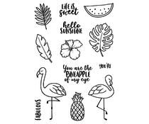 Jane's Doodles Tropical Fun Clear Stamps (JD047)