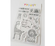 Jane's Doodles Wild Clear Stamps (JD068)