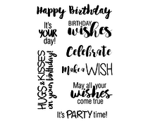 Jane's Doodles Birthday Wishes Clear Stamps (JD016)