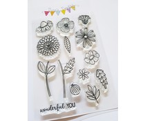 Jane's Doodles Wonderful You Clear Stamps (JD074)