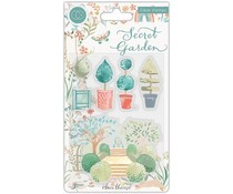 Craft Consortium Secret Garden Topiary Clear Stamps (CCSTMP061)
