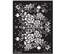 Re-Design with Prima Floral Matrix 18x25.5 Inch Decor Stencils (654375)