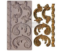 Re-Design with Prima Lilian Scrolls 5x10 Inch Mould (654603)