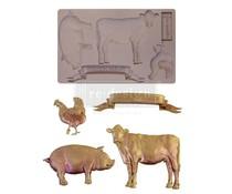Re-Design with Prima Farm Animals 5x8 Inch Mould (652029)