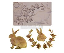 Re-Design with Prima Meadow Hare 5x8 Inch Mould (652050)
