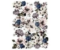 Re-Design with Prima Dark Floral 24x35 Inch Decor Transfers (641719)