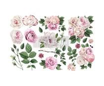 Re-Design with Prima Delicate Roses 6x12 Inch Decor Transfers (653484)