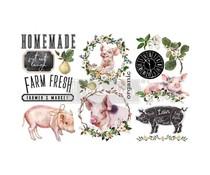 Re-Design with Prima Farm Fresh 6x12 Inch Decor Transfers (653439)