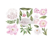 Re-Design with Prima Morning Peonies 6x12 Inch Decor Transfers (653477)