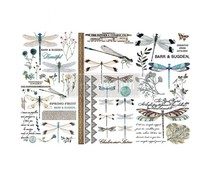 Re-Design with Prima Spring Dragonfly 6x12 Inch Decor Transfers (653392)