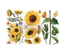 Re-Design with Prima Sunflower Afternoon 6x12 Inch Decor Transfers (653491)