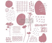Re-Design with Prima Decor Clear Stamps 12x12 Inch Abstract Scribbles (652609)
