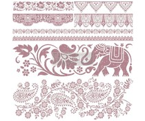 Re-Design with Prima Decor Clear Stamps 12x12 Inch Bohemian Dreamer (652623)