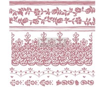 Re-Design with Prima Decor Clear Stamps 12x12 Inch Floral Borders (652630)