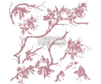 Re-Design with Prima Decor Clear Stamps 12x12 Inch Forest Aviary (650650)