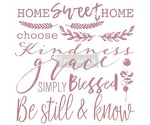 Re-Design with Prima Decor Clear Stamps 12x12 Inch Inspired Words (652654)