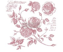 Re-Design with Prima Decor Clear Stamps 12x12 Inch Romance Roses (650681)