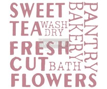 Re-Design with Prima Decor Clear Stamps 12x12 Inch Sweet Tea (652616)