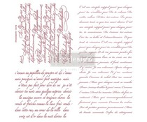 Re-Design with Prima Decor Clear Stamps 12x12 Inch Vintage Script (650636)