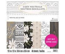 Craft Smith Cozy Neutrals 12x12 Inch Paper Pad (MSE7221)