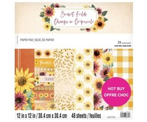 Craft Smith Sunset Fields 12x12 Inch Paper Pad (MSE7218)