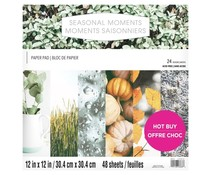 Craft Smith Seasonal Moments 12x12 Inch Paper Pad (MSE7217)