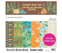 Craft Smith Summer Road Trip 12x12 Inch Paper Pad (MSE7222)